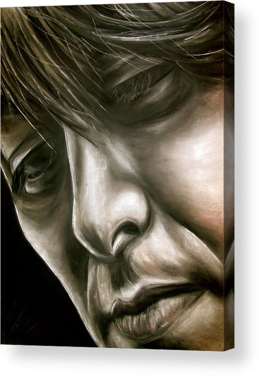 George Acrylic Print featuring the drawing George Harrison by Zach Zwagil