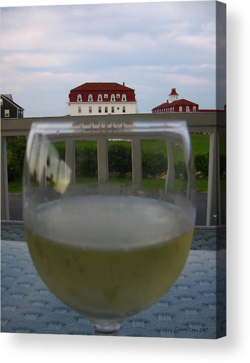 Block Island Acrylic Print featuring the photograph Glass Of Wine by Gerard Yates