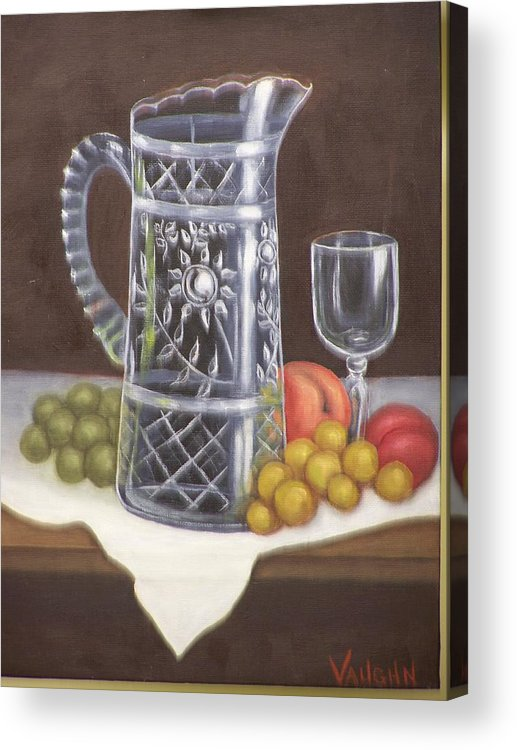 Still Life Acrylic Print featuring the painting Glass Study by Charles Vaughn