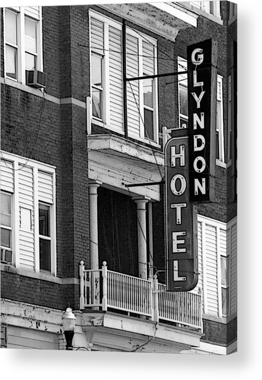 Glyndon Hotel Acrylic Print featuring the photograph Glyndon Hotel by David Bearden