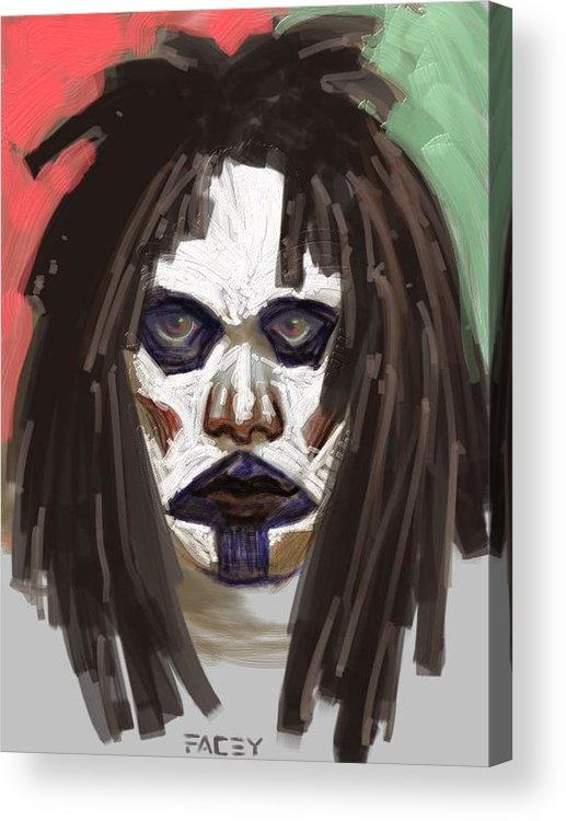 Portrait Acrylic Print featuring the painting Gothic Dread by Michael Facey