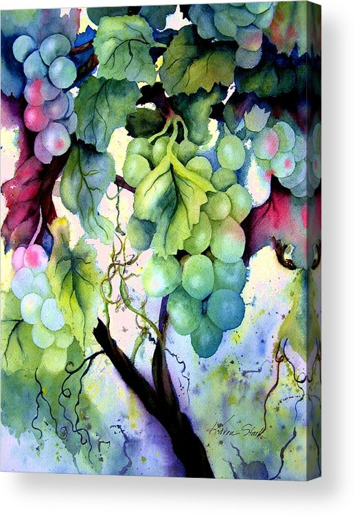 Grapes Acrylic Print featuring the painting Grapes II by Karen Stark
