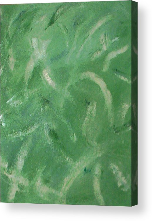 Abstract Acrylic Print featuring the painting Green Movement by Guillermo Mason