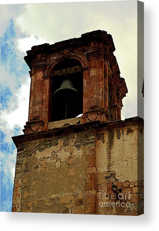 Darian Day Acrylic Print featuring the photograph Guanajuato Bell Tower by Mexicolors Art Photography