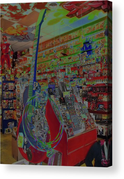 Toy Store Acrylic Print featuring the photograph Guitar Dream by Anne Cameron Cutri
