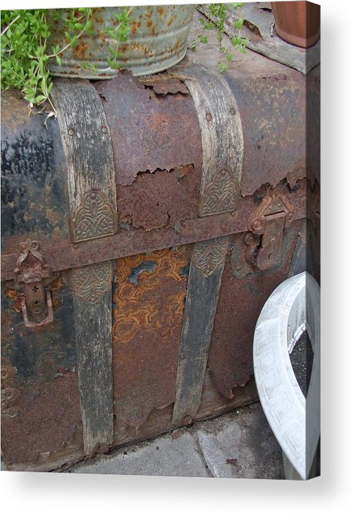 Letter Acrylic Print featuring the photograph H Trunk by Ali Dover
