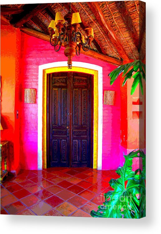 Darian Day Acrylic Print featuring the photograph Hacienda 2 By Darian Day by Mexicolors Art Photography