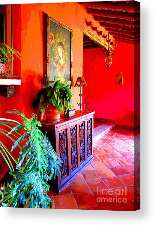 Darian Day Acrylic Print featuring the photograph Hacienda By Darian Day by Mexicolors Art Photography