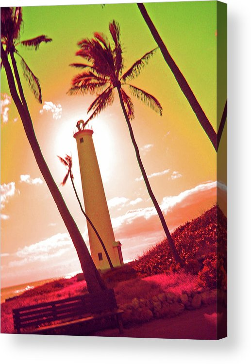 Lighthouse Acrylic Print featuring the photograph Hawaii by Tatiana Gorbett