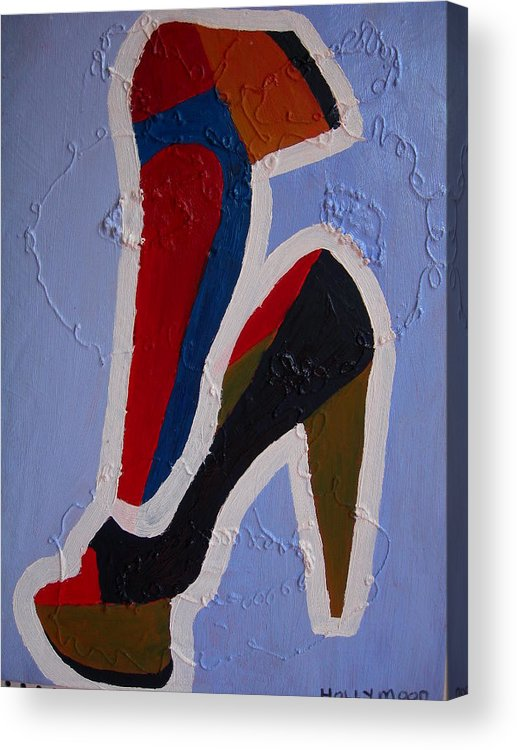 Shoes Acrylic Print featuring the painting Hi Heels by Heinrich Haasbroek