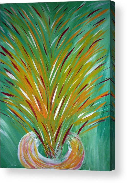 Holy Fire Acrylic Print featuring the painting Holy Fire by Sheila Yackley Prophetic Pieces