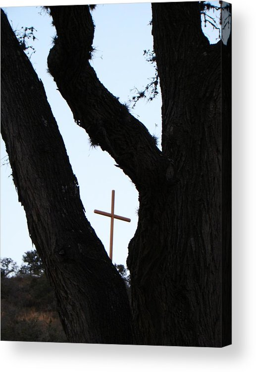 Cross Acrylic Print featuring the photograph Hwy 87 Cross One by Ana Villaronga