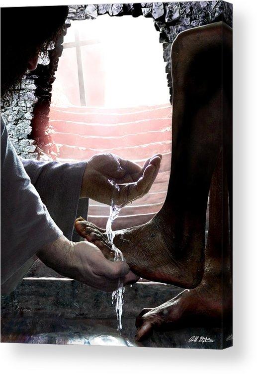 Spiritual Acrylic Print featuring the digital art I Love You by Bill Stephens