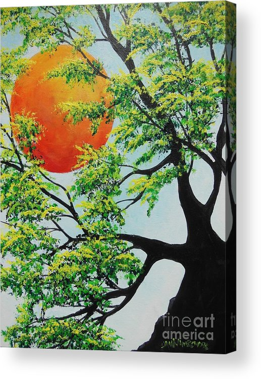 Harvest Moon Acrylic Print featuring the painting In His Time by Dan Whittemore