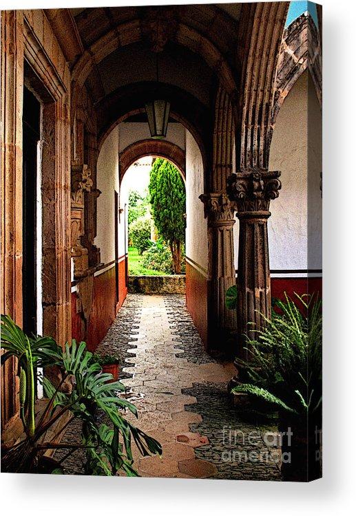 Patzcuaro Acrylic Print featuring the photograph Inner Garden by Mexicolors Art Photography