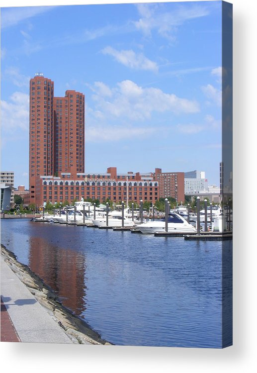 Baltimore Acrylic Print featuring the photograph Inner Harbor by James and Vickie Rankin