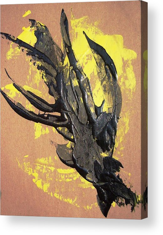 Grisley Acrylic Print featuring the painting Iron Hands by Bruce Combs - REACH BEYOND