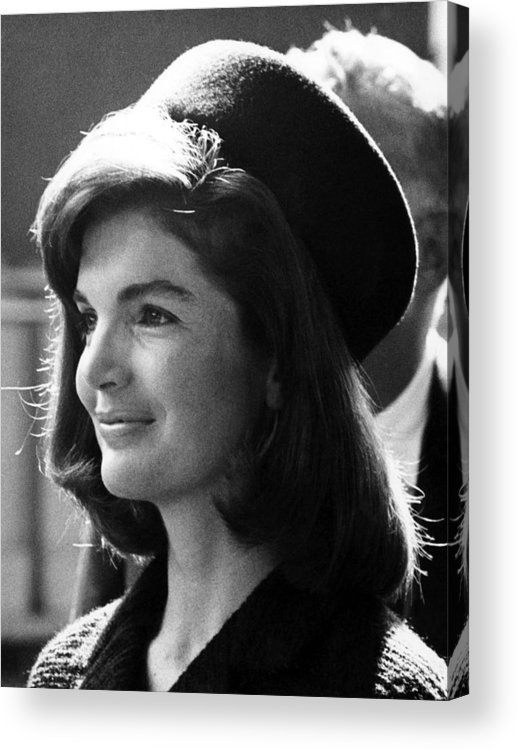 1960s Acrylic Print featuring the photograph Jacqueline Kennedy, Joins The President by Everett