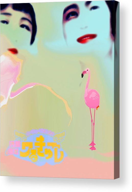 Woman Acrylic Print featuring the digital art Japanese Beauties by Alfred Degens
