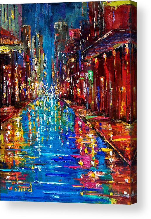 New Orleans Acrylic Print featuring the painting Jazz Drag by Debra Hurd