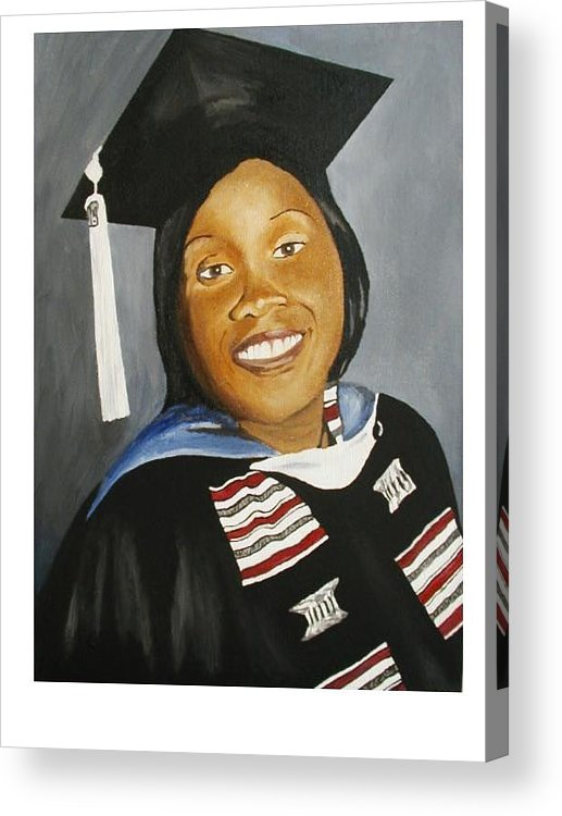 Portrait Acrylic Print featuring the painting Jessie by Angelo Thomas