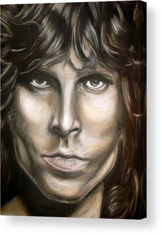 Jim Acrylic Print featuring the drawing Jim Morrison by Zach Zwagil