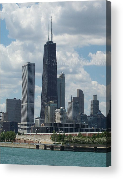 John Hancock Acrylic Print featuring the photograph John Hancock Tower by Jennifer Cannon