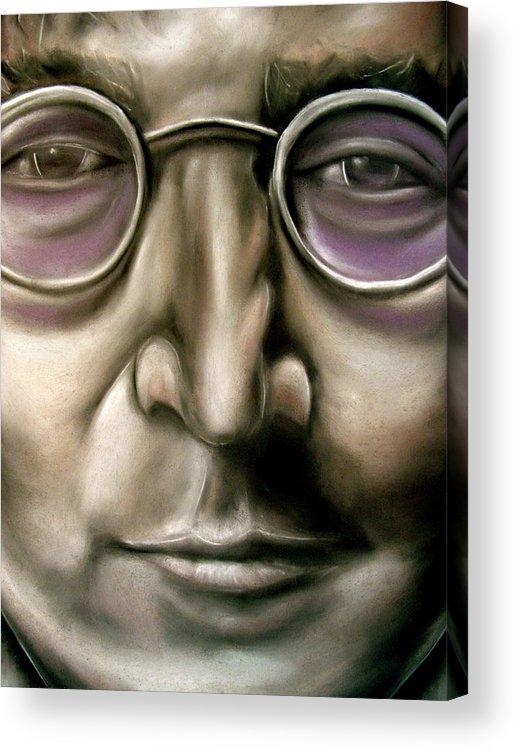 John Acrylic Print featuring the drawing John Lennon by Zach Zwagil