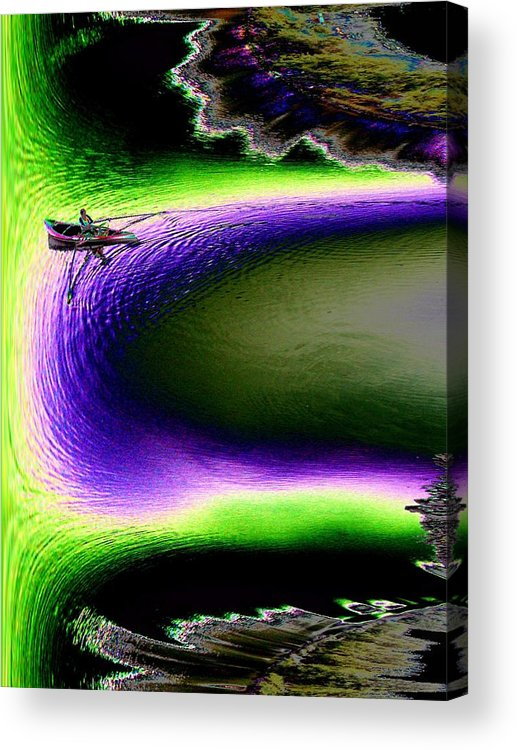 Seattle Acrylic Print featuring the digital art Kayak In The Cut by Tim Allen