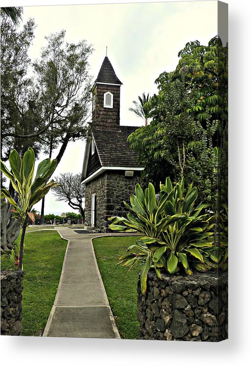 Hawaii Acrylic Print featuring the photograph Keawala'i Congregational Church by Jo Sheehan