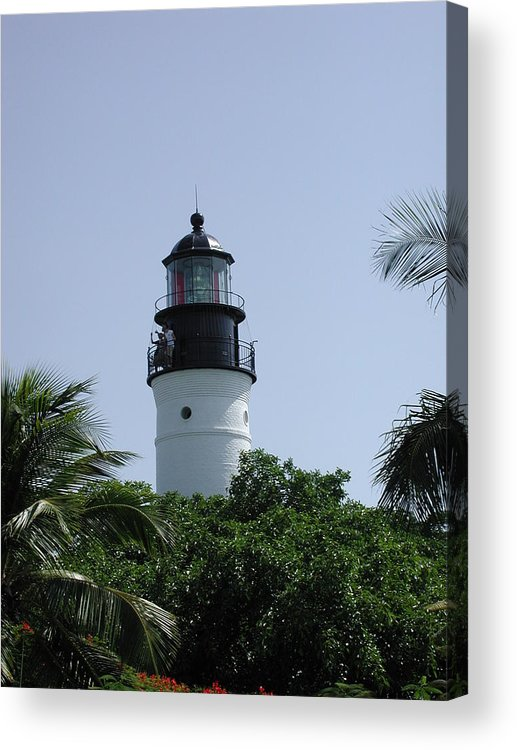 Lighthouse Acrylic Print featuring the photograph Key West Lighthouse by Nancy Taylor
