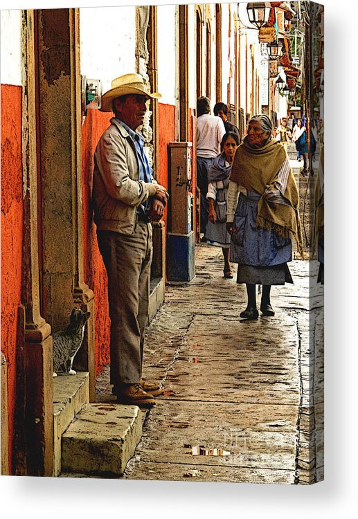 Mexicolors.com Acrylic Print featuring the photograph Kitten In The Doorstep, Patzcuaro by Mexicolors Art Photography