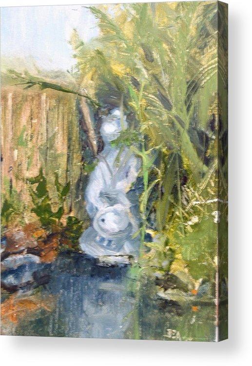 Still-life. Pond Koi Acrylic Print featuring the painting Koi Pond by Bryan Alexander