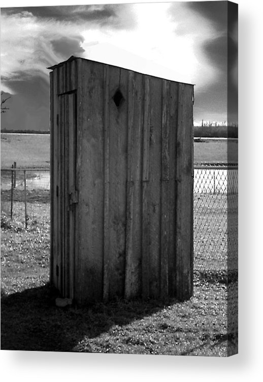 Ansel Adams Acrylic Print featuring the photograph Koyl Cemetery Outhouse5 by Curtis J Neeley Jr