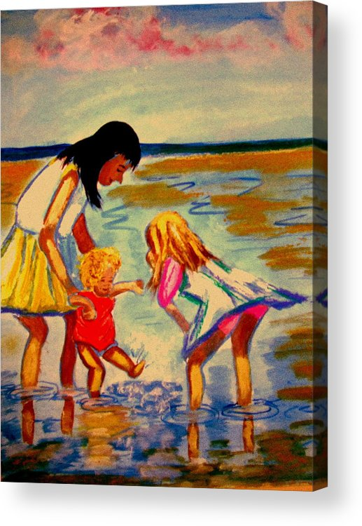 France Acrylic Print featuring the painting Les Mares by Rusty Gladdish