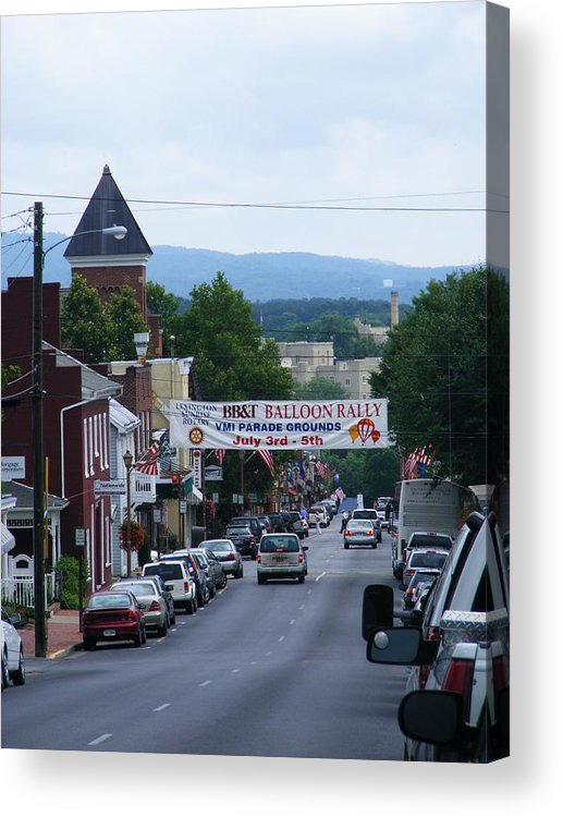 Lexington Acrylic Print featuring the photograph Lexington Va In July by Eddie Armstrong