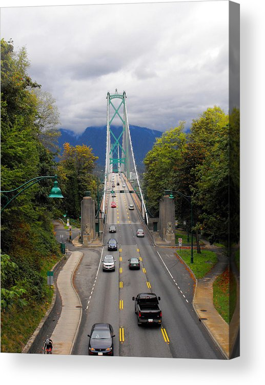 ruth Palmer Acrylic Print featuring the photograph Lion's Gate Bridge by Ruth Palmer