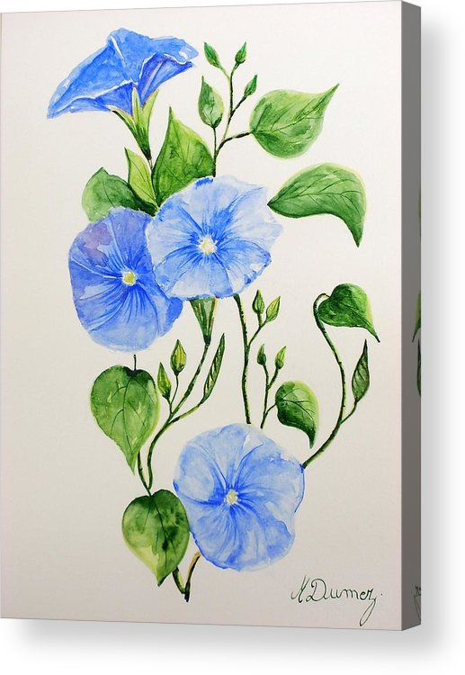Flowers Acrylic Print featuring the painting Liseron by Murielle Hebert