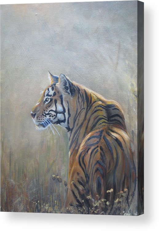 Animal Life Acrylic Print featuring the sculpture Look Out by Todd Gates