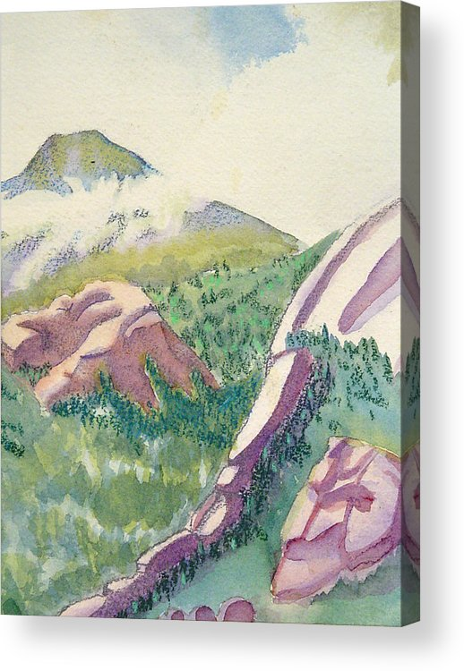 Mountains Acrylic Print featuring the painting Lost Creek by D T LaVercombe