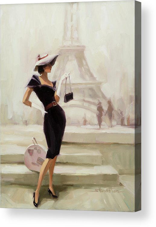 Paris Acrylic Print featuring the painting Love, From Paris by Steve Henderson
