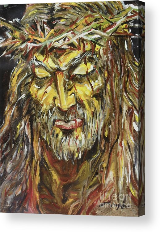 Jesus Acrylic Print featuring the painting Love by Joseph Palotas