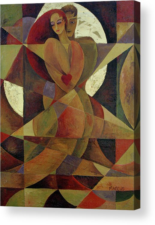 Love. Lovers Acrylic Print featuring the painting Love Light 1 by Leslie Marcus