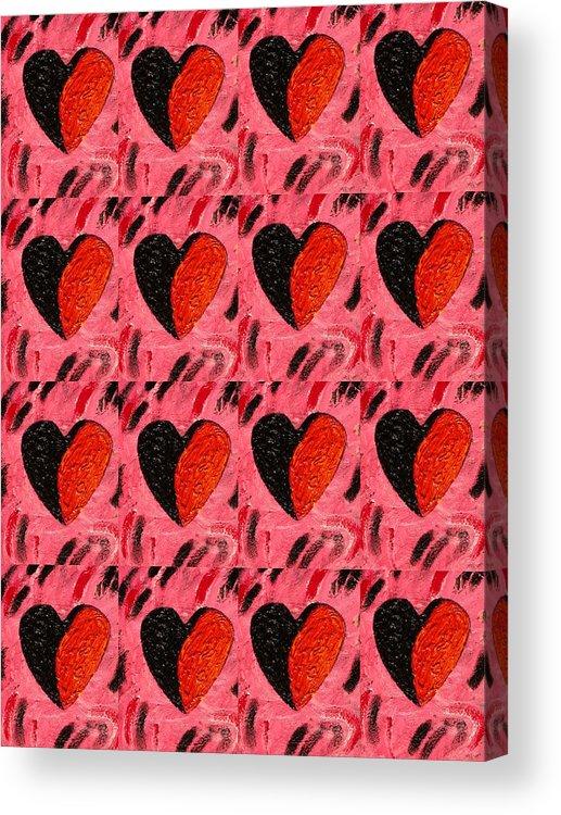 Hearts Acrylic Print featuring the painting Love My Boyfriend by Nelleke Pienaar