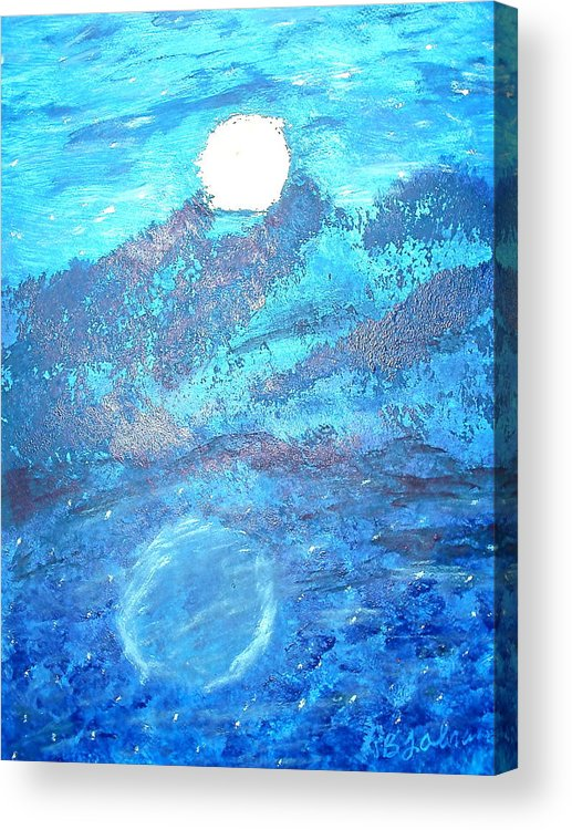 Acrylic Acrylic Print featuring the painting Lover's Moon by BJ Abrams