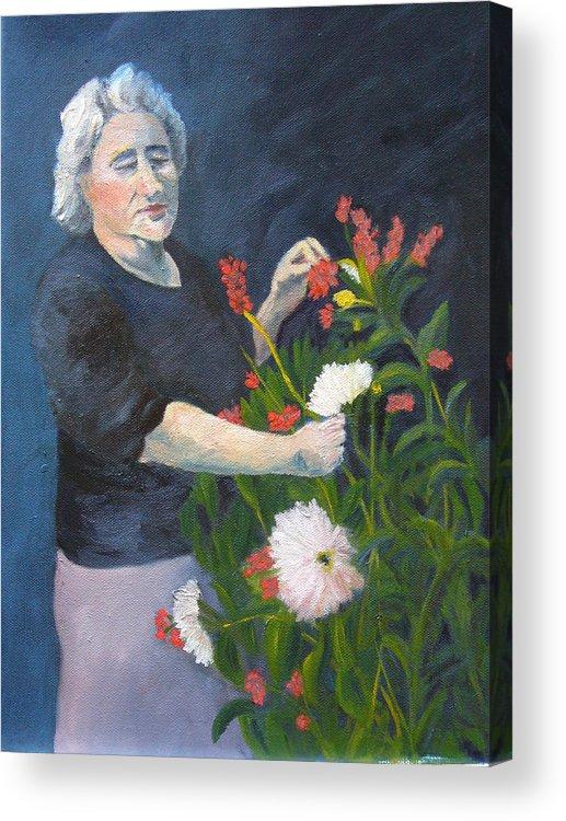 Woman Acrylic Print featuring the painting Mamma Mia by Joe Lanni