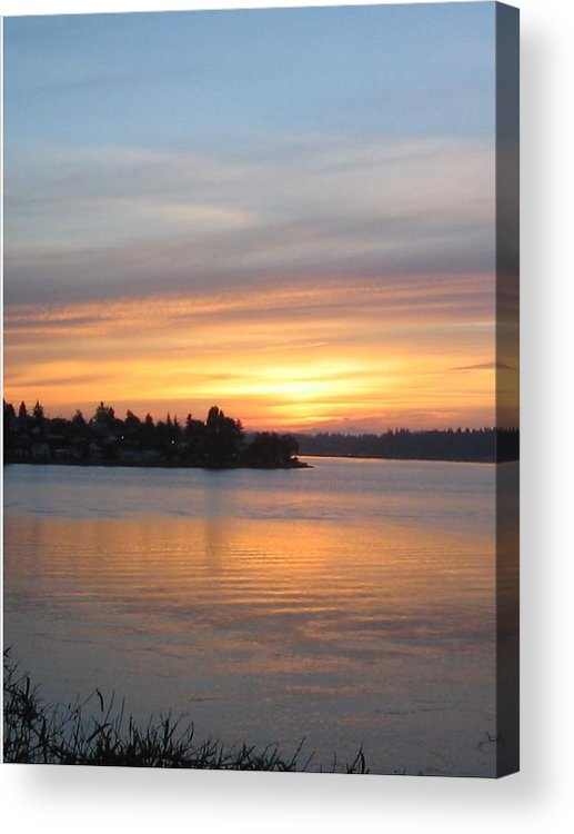 Sunrise Acrylic Print featuring the photograph Manette Sunrise by Valerie Josi