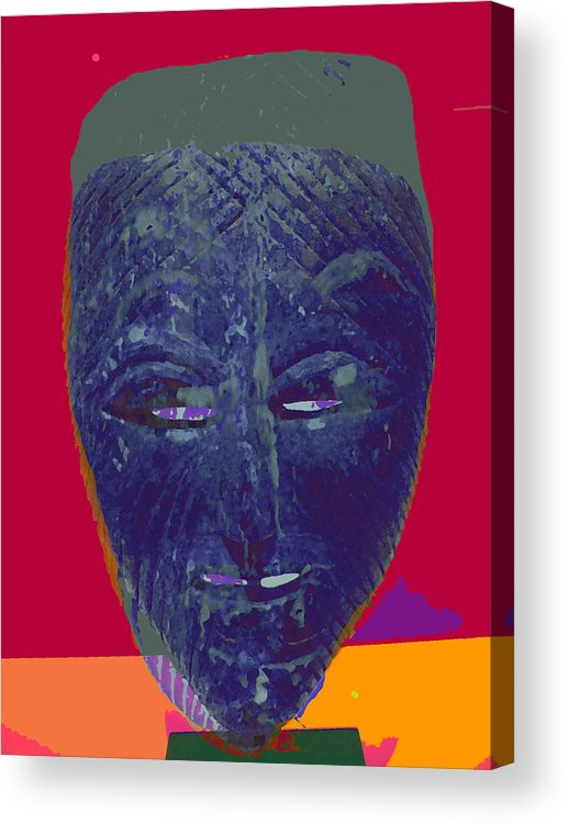 Mask Acrylic Print featuring the painting Mask 10 by Noredin Morgan