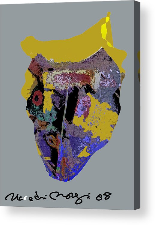 Mask Acrylic Print featuring the painting Mask 20 by Noredin Morgan