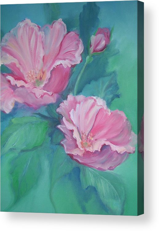 Flowers Acrylic Print featuring the painting Master's Garden by Judy Groves